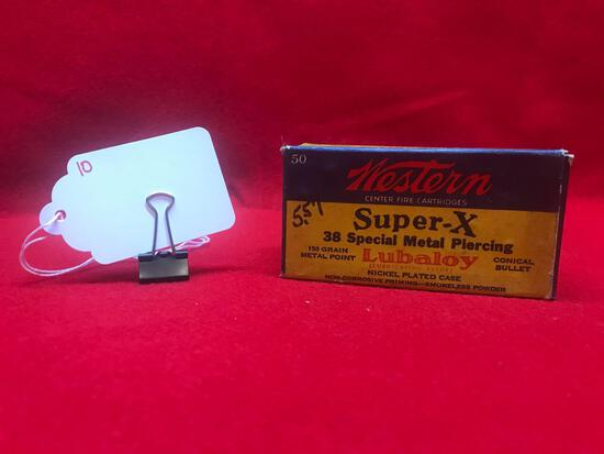 WESTERN SUPER-X, 38 SPECIAL, METAL PIERCING, 48 ROUNDS