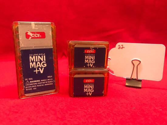 CCI MINI MAG, 22 CAL, LONG RIFLE, 3 BOXES