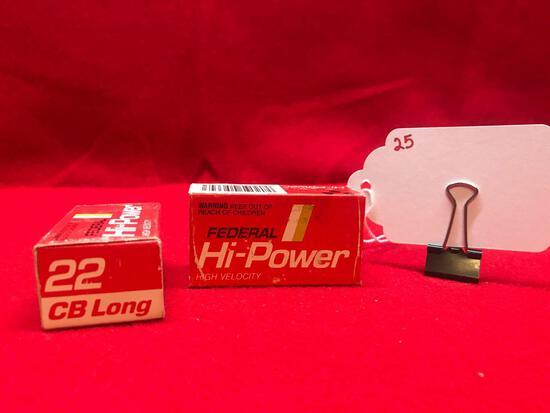 FEDERAL HI POWER, 22 CAL, CB LONG, 2 BOXES