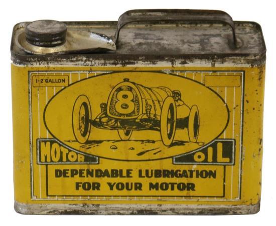 HY-Fire Motor Oil Half Gallon Oil Can W/ Race Car