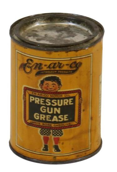 White Rose En-Ar-Co Pressure Gun Grease Can