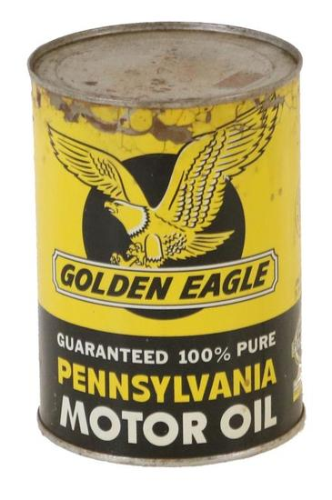Golden Eagle Pennsylvania Motor Oil Quart Can
