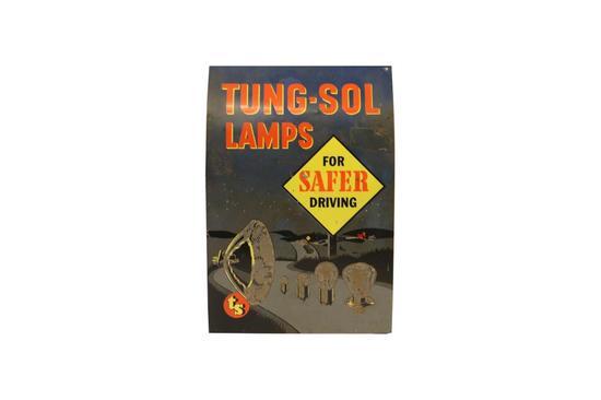 Tung-Sol Lamps Metal Display Cabinet