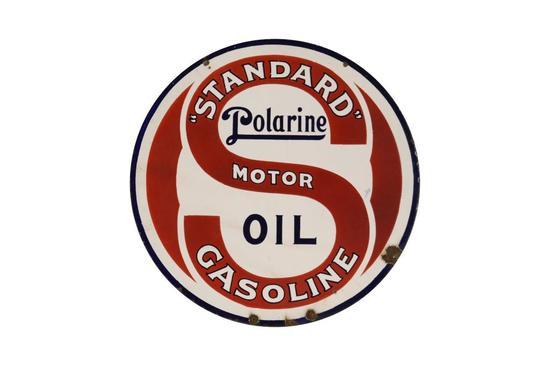 Standard Motor Gasoline Polarine Oil DSP Sign