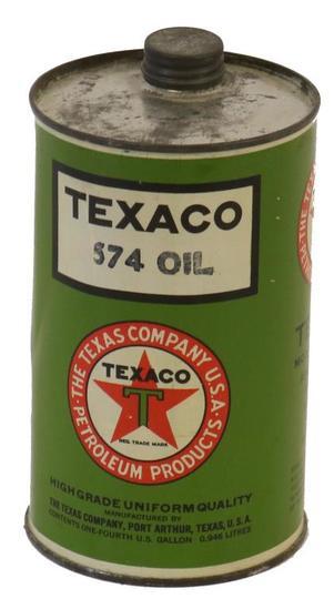 Texaco 574 Quarter Gallon Oil Can