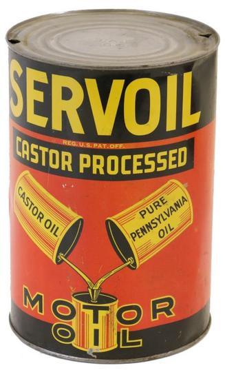 Servoil Castor Processed Motor Oil Five Quart Can