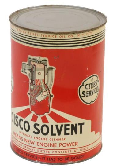Cities Service Cisco Solvent 5 Quart Can