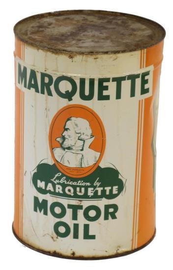 Marquette Motor Oil 5 Quart Oil Can