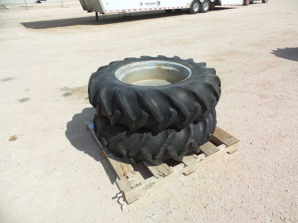 (2) Tractor Tires and Wheels