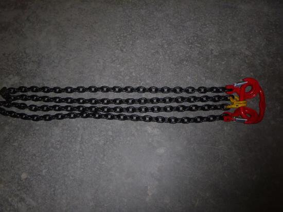 Unused 5/16 7Ft G80 Double legs Lifting...Chain Sling
