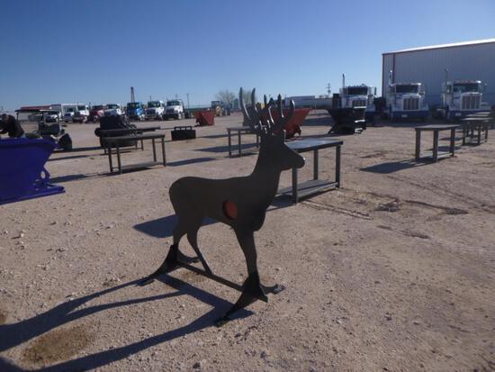 3/8 AR500 Steel Deer Shooting Target