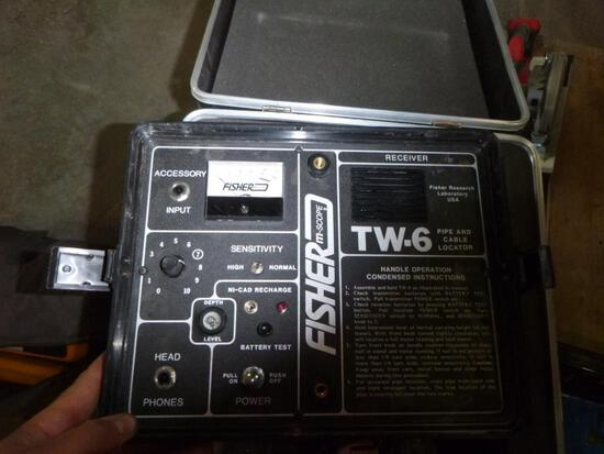 (3) Fisher TW-6 Pipe & Cable Locators
