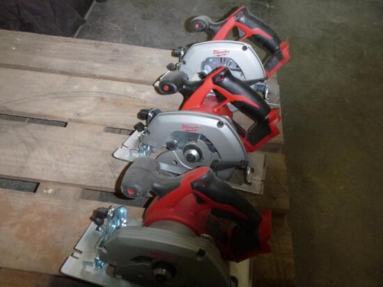 (3) Unused Milwaukee Circular Saws