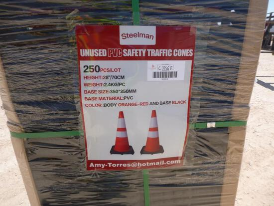 Unused 2020 qty of 250 safety highway cones