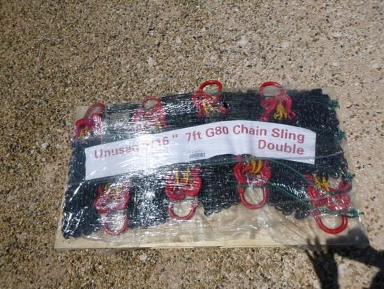 Unused 5/16'' 7ft G80 Double legs Lifting Chain Sling's