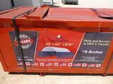 2020 Gold Mount C2040 300gsm PE Peak Container Shelter