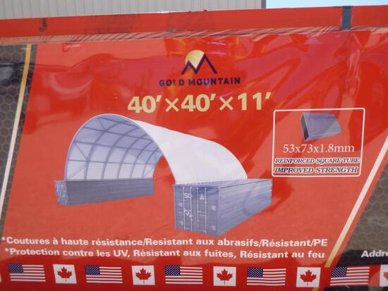 Unused Golden Mount Dome Container Shelter W40ft x L40ft