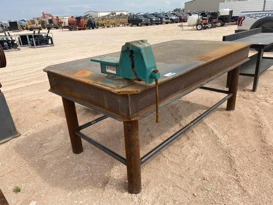 Shop Made Heavy Duty 8 Ft Shop Table