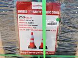 Unused Safety Highway Cones Qty of 250