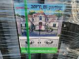 Unused Greatbear 20ft Bi-Parting Wrought Iron Gate with ''DEER'' Artwork