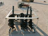 Unused Greatbear Skid Steer Auger Attachment with (3) Different Sizes Bits