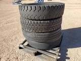 (4) 11 R 22.5 Truck Tires
