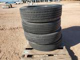 (4) 275/70 R 22.5 Goodyear Truck Tires