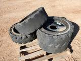 (4) 31 x 10-20 Solid Tires/Wheels for Skid Steer