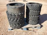 (8) Solid Tires/Wheels for Skid Steer