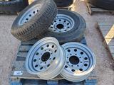 Unused R16 Trailer Wheels & Tires