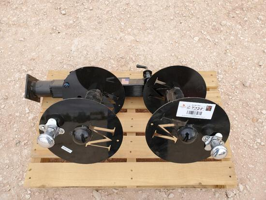 Unused welding lead reels
