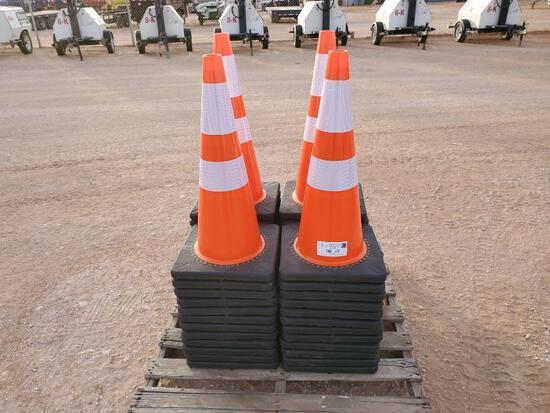 (50) Unused Safety Road Cones