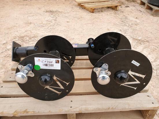 Unused welding lead reels