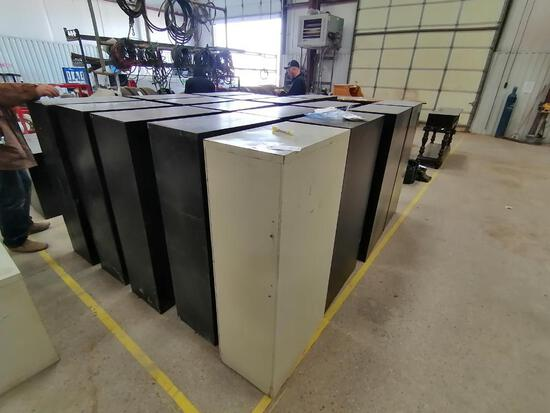(17) 3 Drawer Filing Cabinets