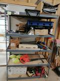 Metal Shelf & Miscellaneous Items