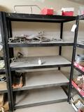 Metal Shelf with Miscellaneous Truck Hoses