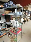 Metal Shelf with Miscellaneous Truck Bearings