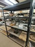 Metal Shelf with Truck Alternator & Truck Suspension Parts