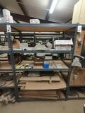 Metal Shelf with Truck Radiator, Control Valves