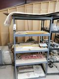 (2) Metal Shelves with Radio Parts