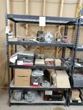 Metal Shelf with Truck Alternators