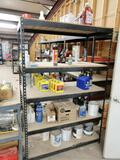 Metal Shelf with assorted Truck Oils