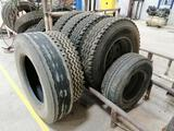 (6) Truck 11R22.5 Tires (2) with Wheels