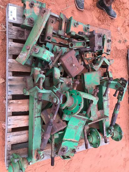 Pallet with John Deere Gauge Wheels