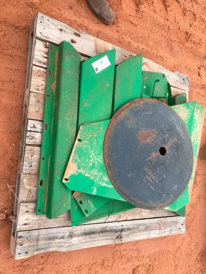 Pallet with John Deere Covers