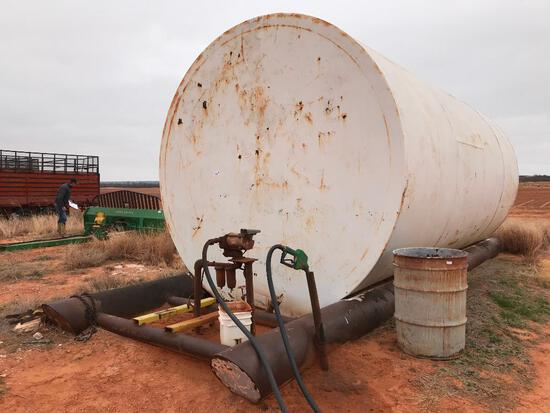 12,000 Gallon Fuel Tank on Skids with GPI 110V Transfer Pump