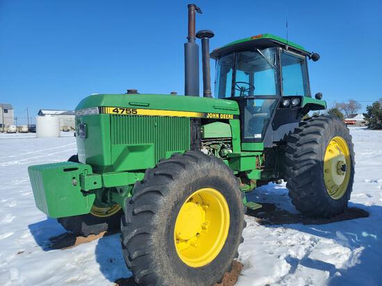 John Deere 4755 Tractor, FWD, Power Shift, Shows 4,180 Hrs, A/C, Heater, Quick Hitch, 3 Hyd Ports,