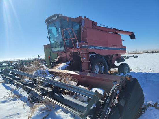 Case International 1680 Axial-Flow Combine, Shows 4,979 Engine Hours, 30.5L-32 Front Tires, 30Ft