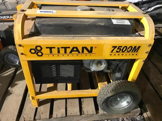 Titan 7500M Gasoline Generator