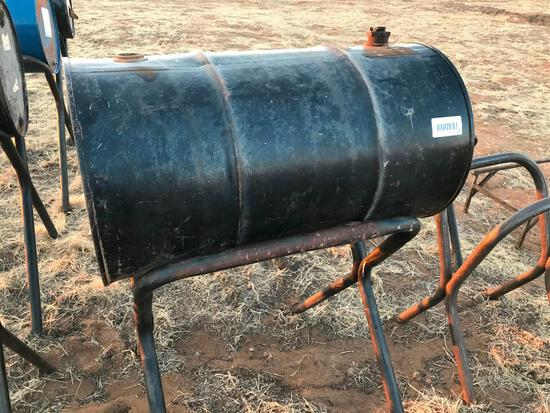 50 Gallon Barrel with Stand